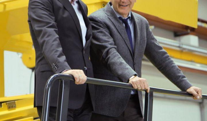Präsident Bomag-Gruppe Jörg Unger und Ralf Junker