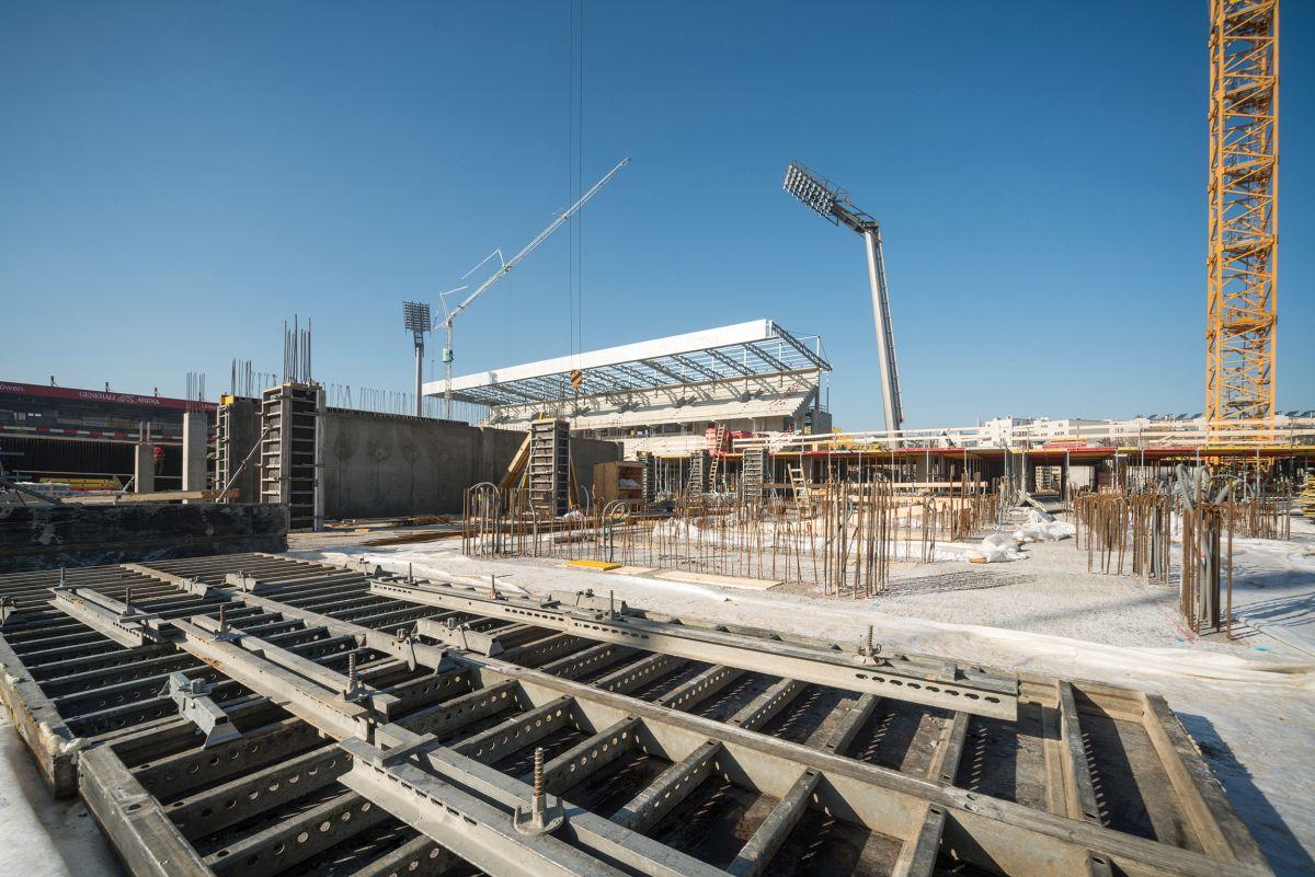 Hünnebeck, Wand- und Deckenschalung Wiener Fußballstadion