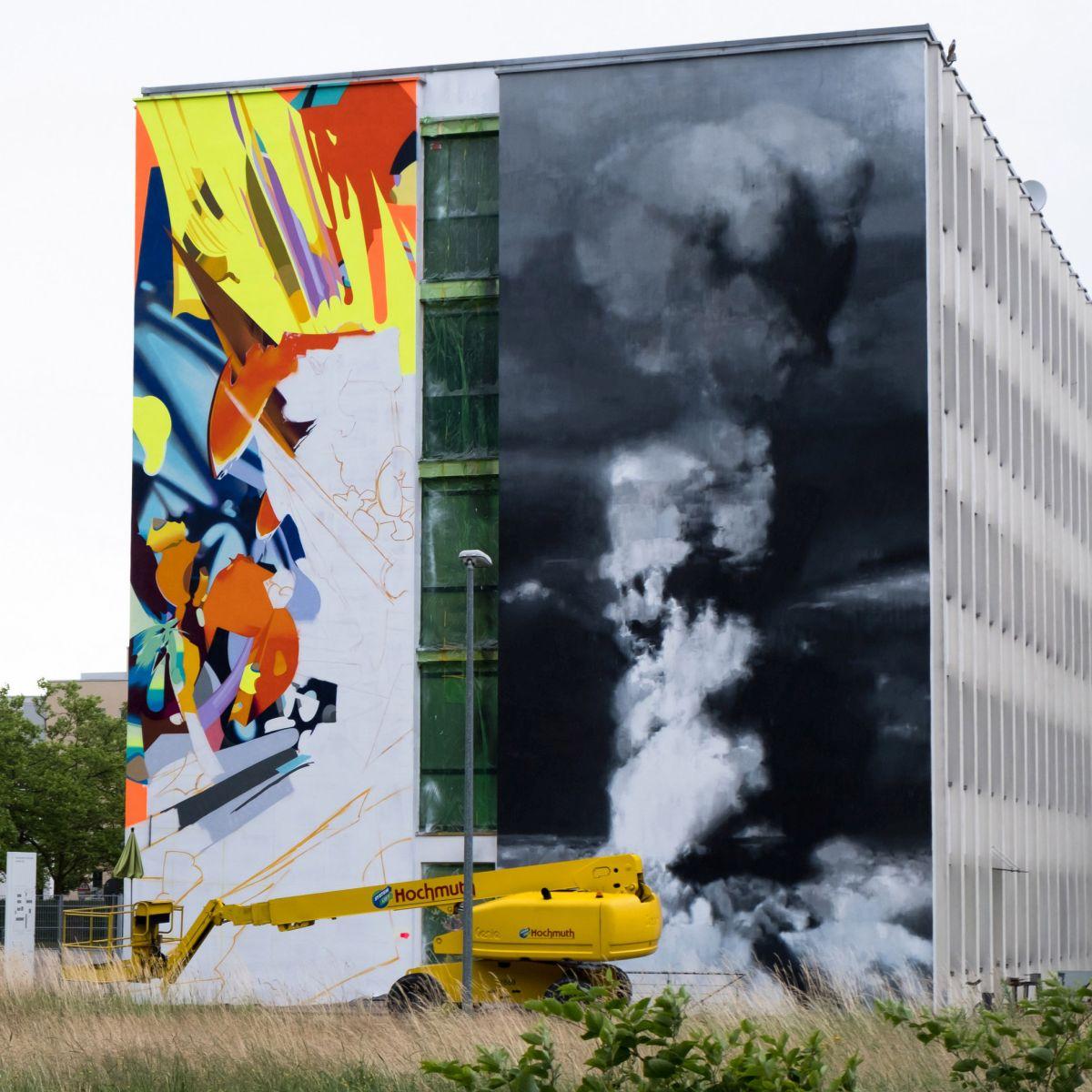 Hochmuth Teleskopbühne für Scale-Wall-Art-Festival