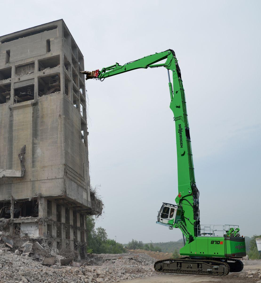 Sennebogen Longfront-Abbruchbagger 870 E