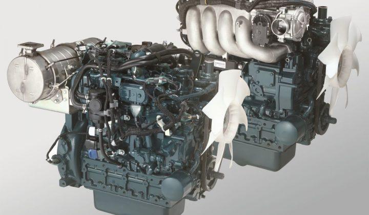 Kubota Baukasten für Diesel-, Benzin-, Treibgas- oder Erdgasmotoren