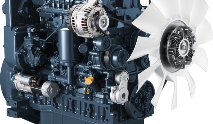 Kubota Dreizylinder-Gasmotor