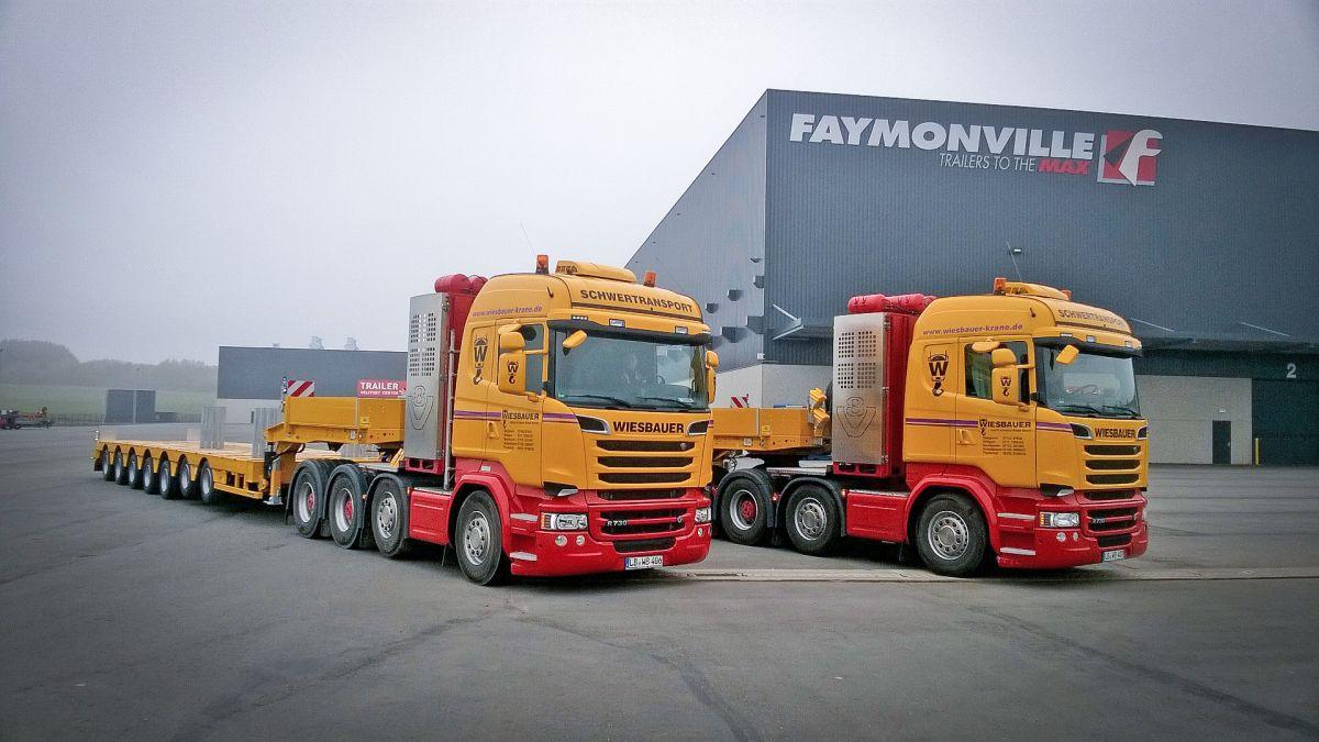 Faymonville Tieflader für Schwerlasttransporte