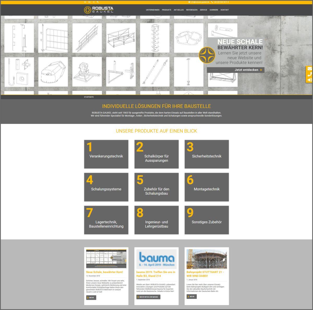 Robusta-Gaukel neue Website