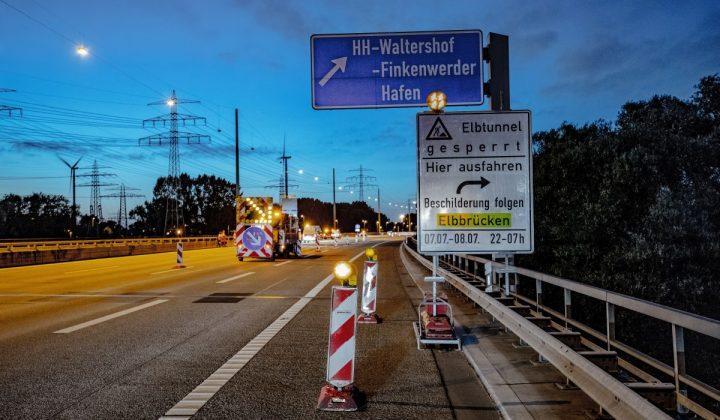 Umleitung Elbtunnel Hamburg