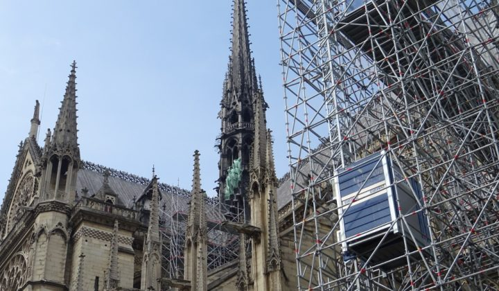 Sanierungsarbeiten an Notre-Dame in Paris
