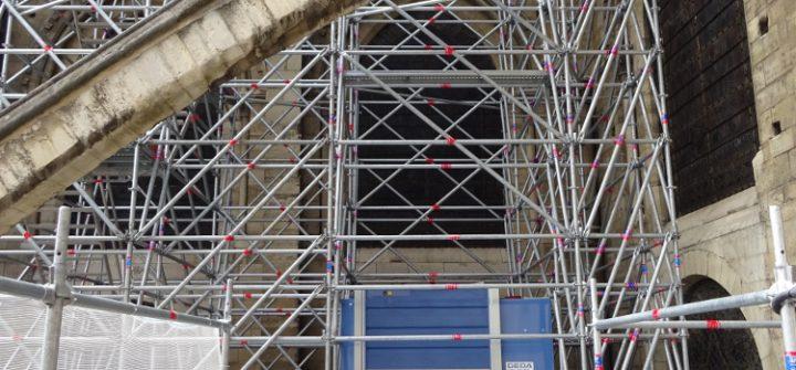 Sanierungsarbeiten an Notre-Dame in Paris