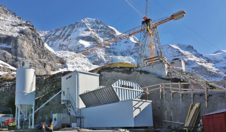 Liebherr Compactmix Mischanlage in den Schweizer Alpen