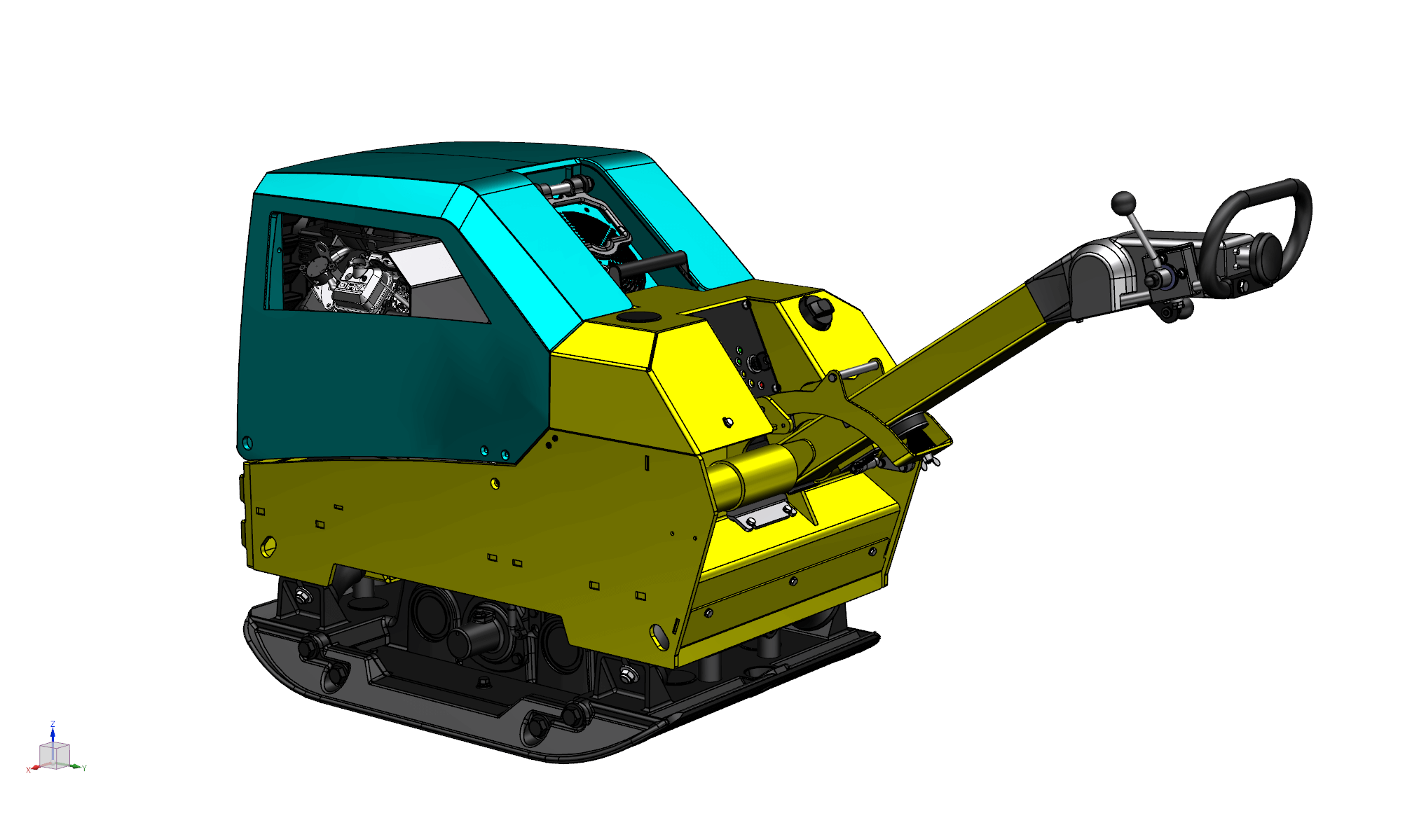 Hybrid-Rüttelplatte von Ammann