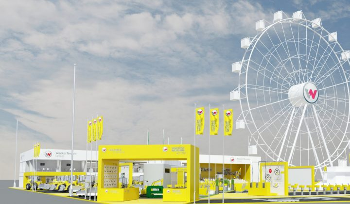 Messestand Wacker Neuson bauma