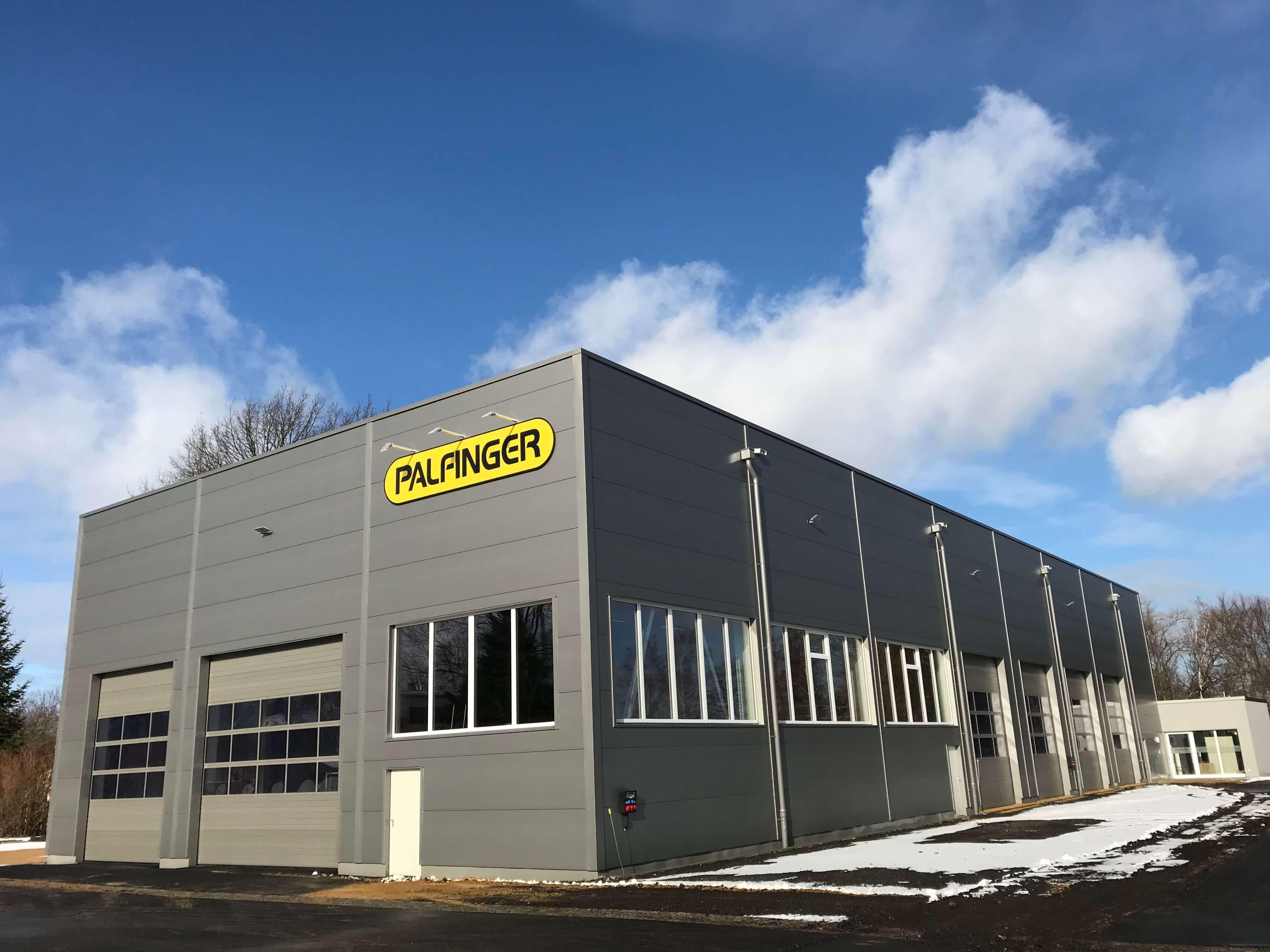 Neuer Servicestandort von Palfinger in Löbau