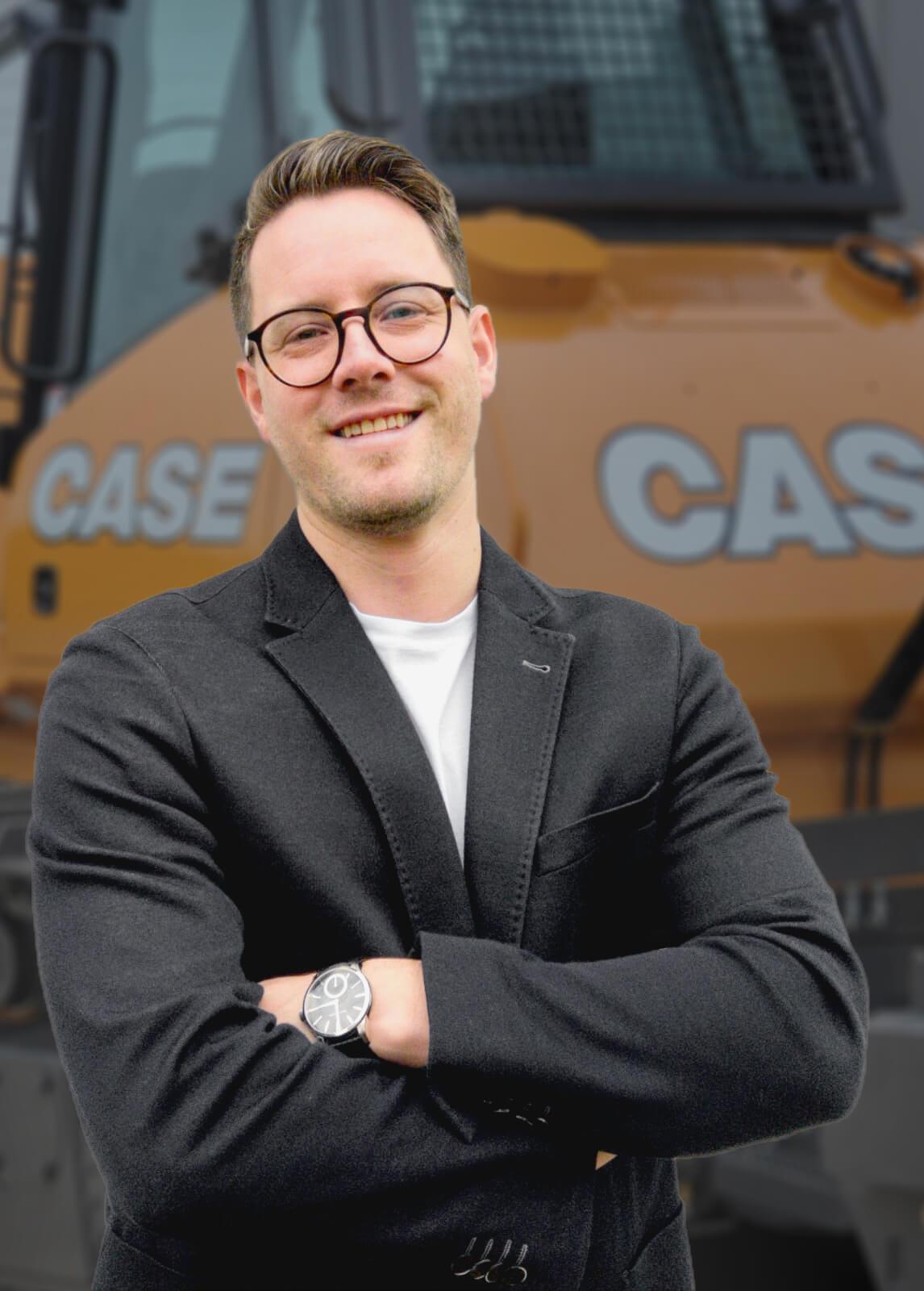 Stefan Stein, Vertriebsleiter für Case-Baumaschinen