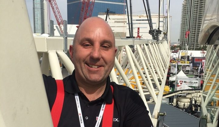 Lee Maynard, Global Sales Director für Turmdrehkrane bei Terex Cranes