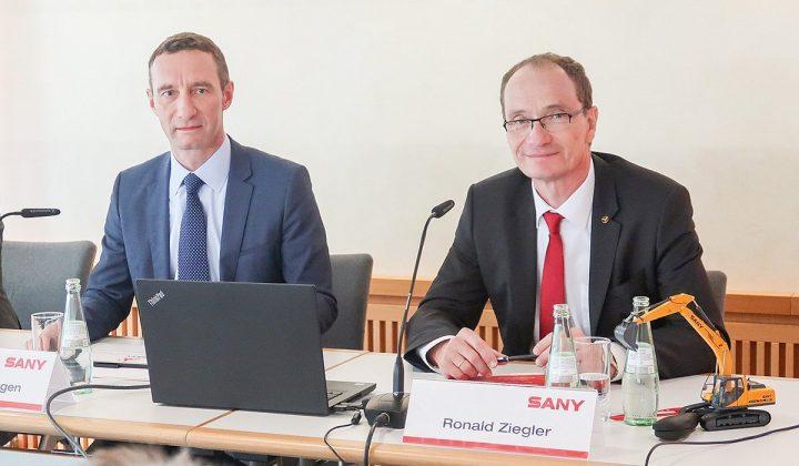 Martin Knötgen und Ronald Ziegler von Sany