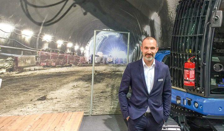 Tunnelbagger Blue Bagder von Wimmer mit Geschäftsführer Andreas Wimmer