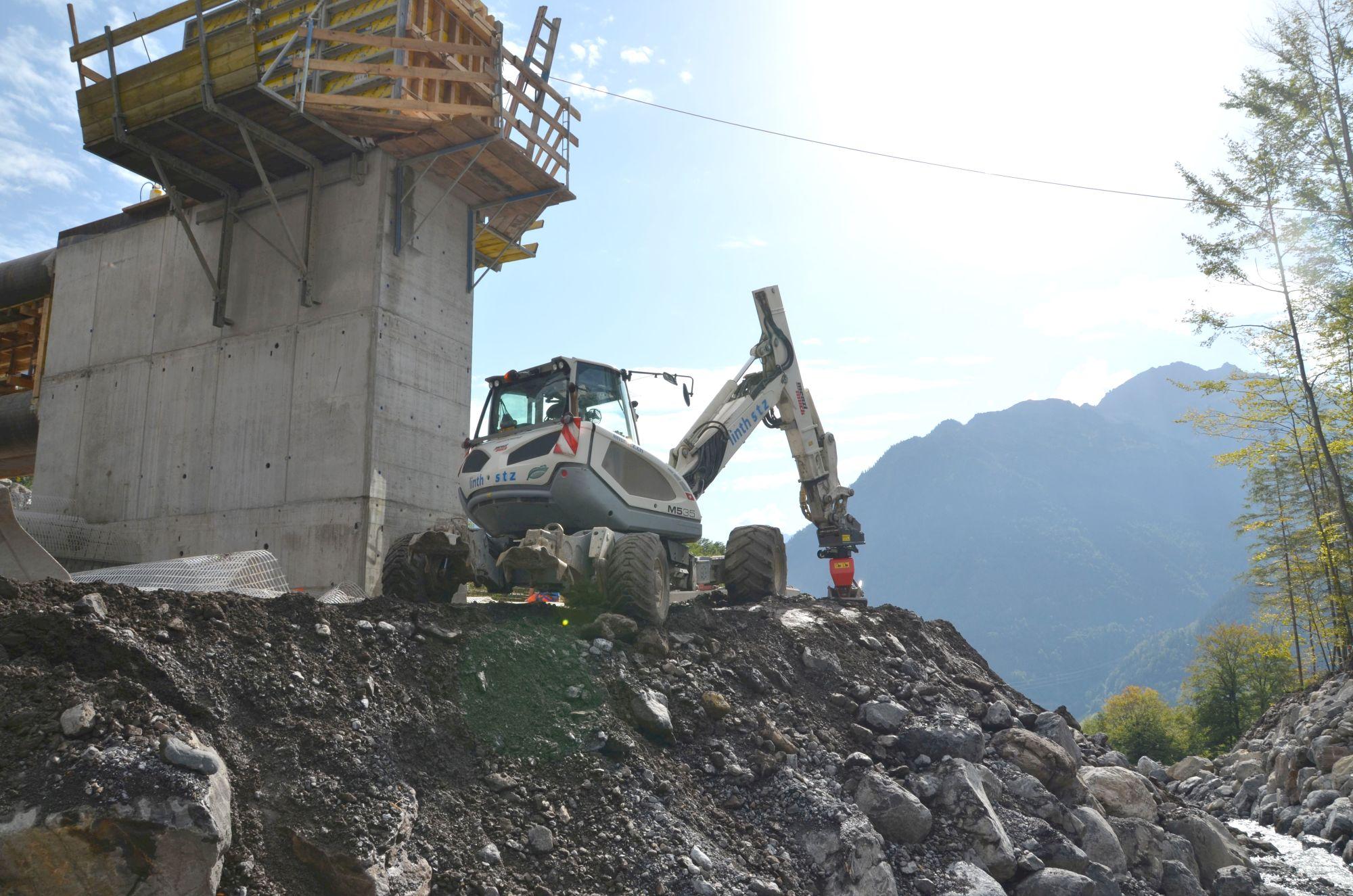 MTS-Verdichter im Einsatz in den schweizer Bergen