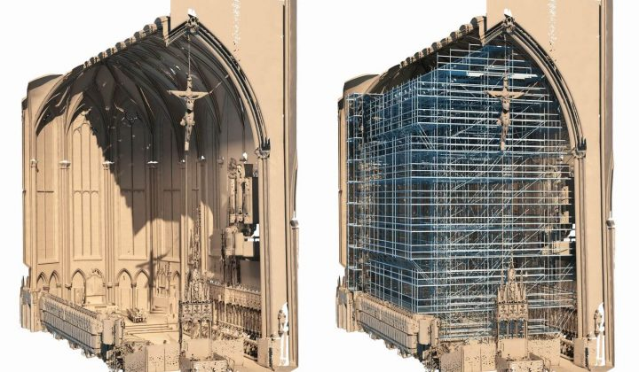 3D-Bauwerksmodell des Chorraums des Ulmer Münster