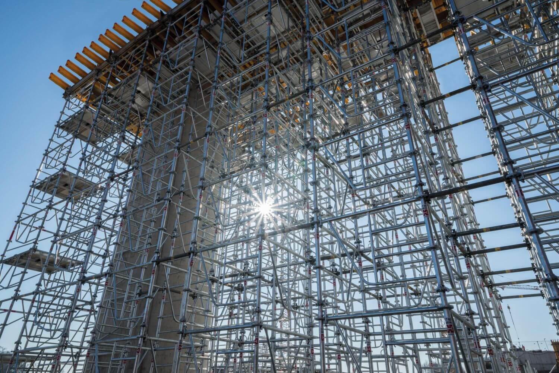 Schalungs-Sonderkonstruktion beim Brückenbau