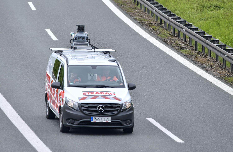Mobile Mapping auf einer Autobahn