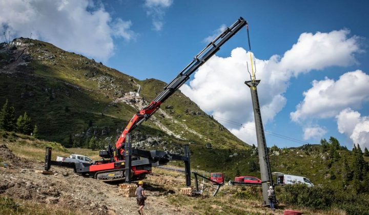 Crawler Crane PCC 115.002 von Palfinger im Geländeeinsatz