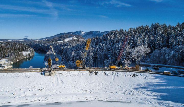Sanierung des Forggensee-Staudamm