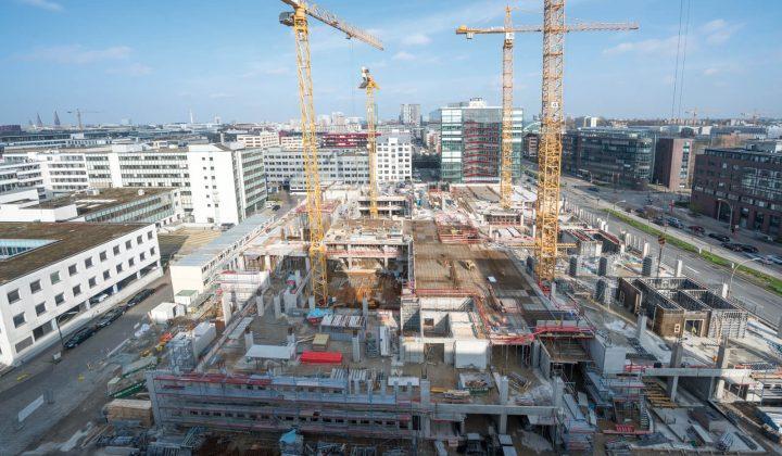 Schalkonzept auf einer Großbaustelle in Hamburg