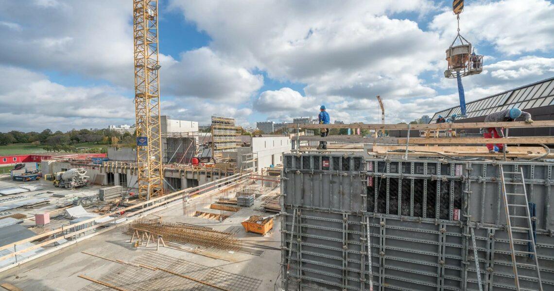 Bau neuer Gebäude der TU München