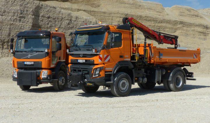 Volvo FMX 460 4x4 und der Volvp FL 280 4x4