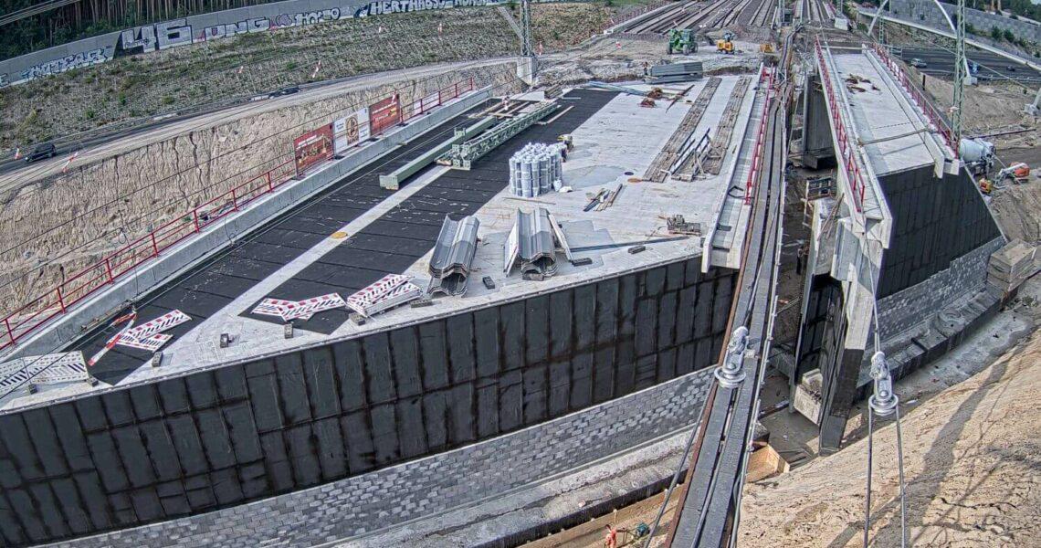 Brückeneinschub Michendorf