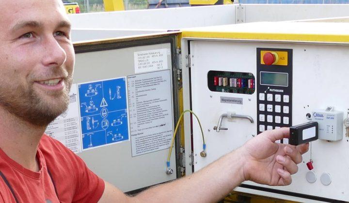 Mini-Dat-Datenerfassungsgerät der Firma Rösler
