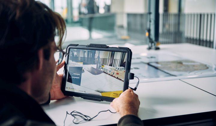 Augmented-Reality-App von Liebherr