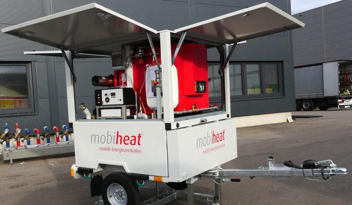 Mobile Heizzentrale auf Rädern
