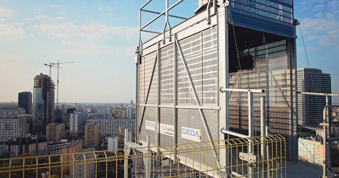 Bauaufzug von Geda-Dechentreiter