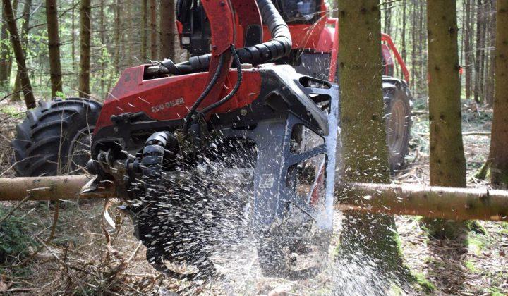 Forstmaschine im Wald