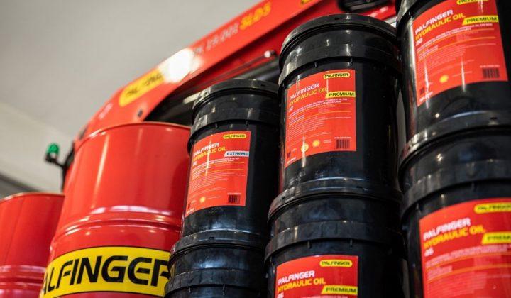Schmierstoffpaket für Palfinger von Shell