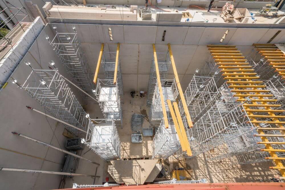 Aufbau des Unterstützungssystem ST-60 von Hünnebeck